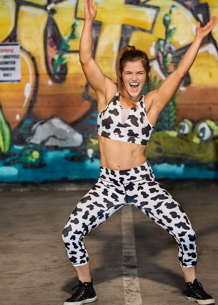 Feed Me Fight Me Cow-Moo-Flage Mid-Rise Capris - 9 for 9