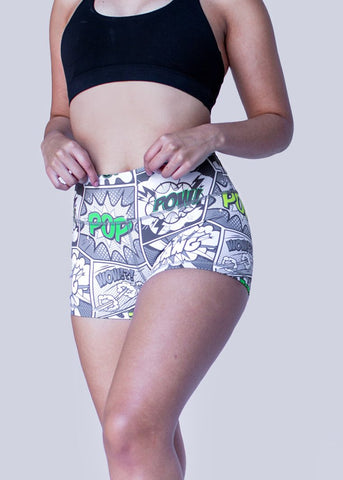 Feed Me Fight Me Women's 'Crime Fighter' Shorts - 9 for 9
