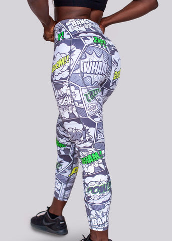Feed Me Fight Me 'Crime Fighter' High-Waisted Leggings - 9 for 9