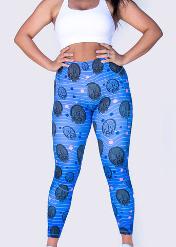 Feed Me Fight Me Death By Iron High-Waisted Leggings - 9 for 9