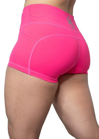 Feed Me Fight Me Women's Everyday Shorts (Hot Pink) - 9 for 9