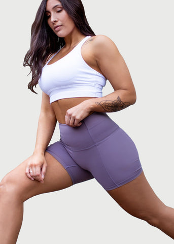 Feed Me Fight Me Women's F3 Biker Shorts (Lavender) - 9 for 9