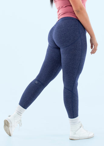 Feed Me Fight Me F3 Mid-Rise Leggings (Heathered Blue) - 9 for 9