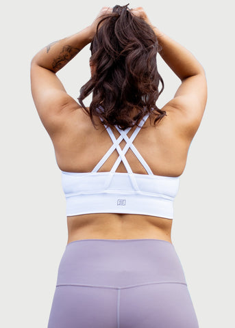 Feed Me Fight Me F3 Switchback Sports Bra (White) - 9 for 9