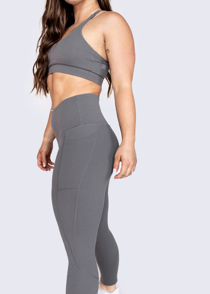 Feed Me Fight Me SAS High-Waisted Leggings (Ash) - 9 for 9