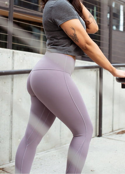 Feed Me Fight Me SAS Essence High-Waisted Leggings (Lavender) - 9 for 9