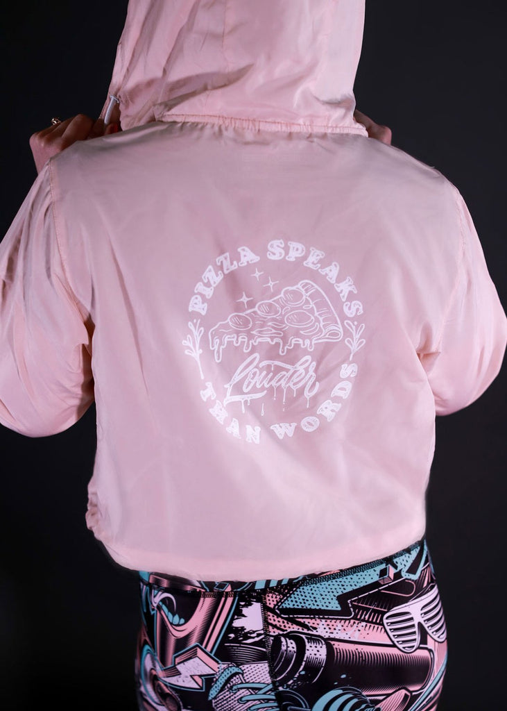 Feed Me Fight Me Slice Cropped Windbreaker - 9 for 9