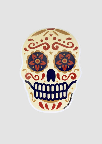 Feed Me Fight Me Sugar Skull Sticker - 9 for 9