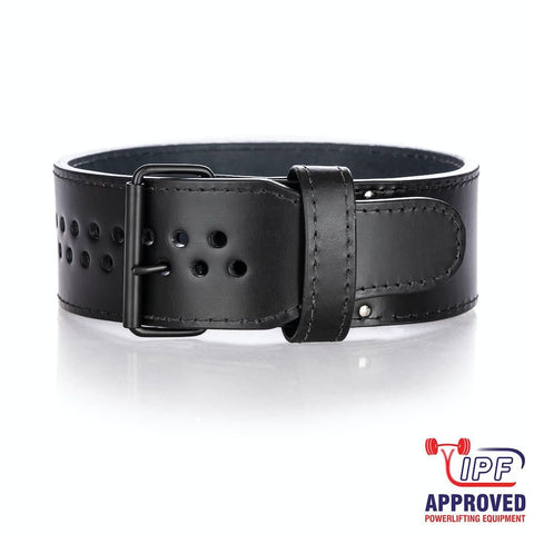 "Iron Tanks Hellraiser Single Prong ""Pioneer Cut™"" 10/13mm Powerlifting Belt - IPF APPROVED - 9 for 9"