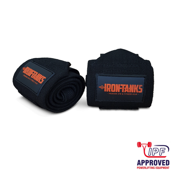 Iron Tanks Ironclad Wrist Wraps (Immortal Black) - IPF APPROVED