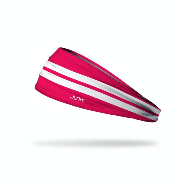JUNK Varsity Stripe Hot Pink Headband (Big Bang Lite) - 9 for 9