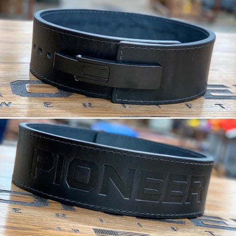 "Pioneer Fitness ""Stock"" Powerlifting Lever Belt – 13mm thick – 4"" wide - 9 for 9"