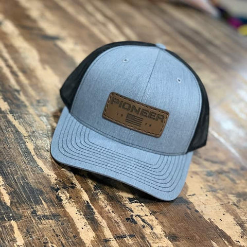 Pioneer Leather Patch Cap - 9 for 9