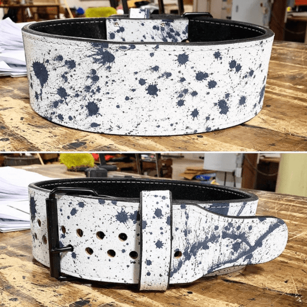 "Pioneer Cut Splatter Belt™ – 10mm thick – 3"" / 4"" wide – Powerlifting Belt - 9 for 9"