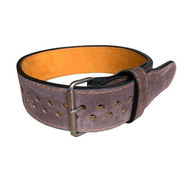"Pioneer Cut™ Powerlifting Belt – 10mm thick – 3"" wide (Two Tone Suede) - 9 for 9"