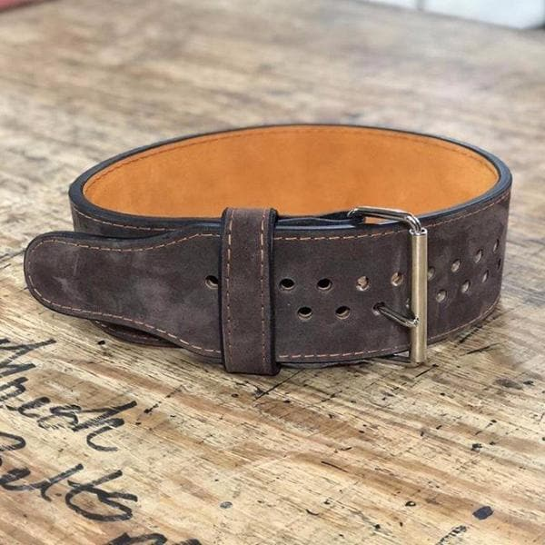 "Pioneer Cut™ – 10mm thick – 4"" wide – Powerlifting Belt (Two Tone Suede)"