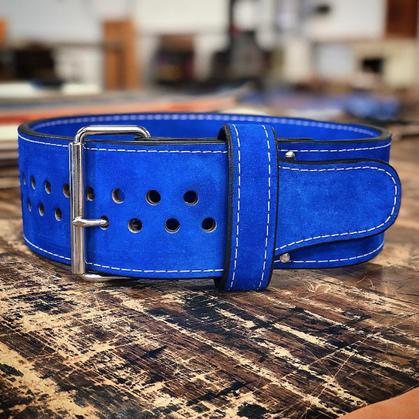"Pioneer Cut™ – 13mm thick – 4"" wide – Powerlifting Belt (Single Colour Suede)"