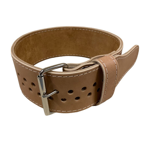 "Pioneer Cut™ Powerlifting Belt – 8.5mm thick – 4"" wide (Treated Leather / Buckskin Suede) - 9 for 9"