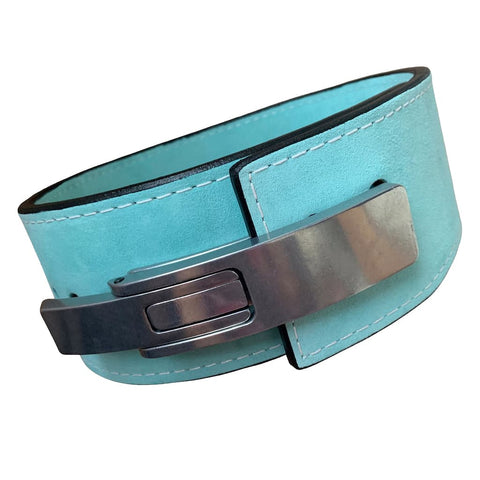 "Pioneer Fitness Powerlifting Lever Belt – 10mm thick – 4"" wide (Single Colour Suede) - 9 for 9"