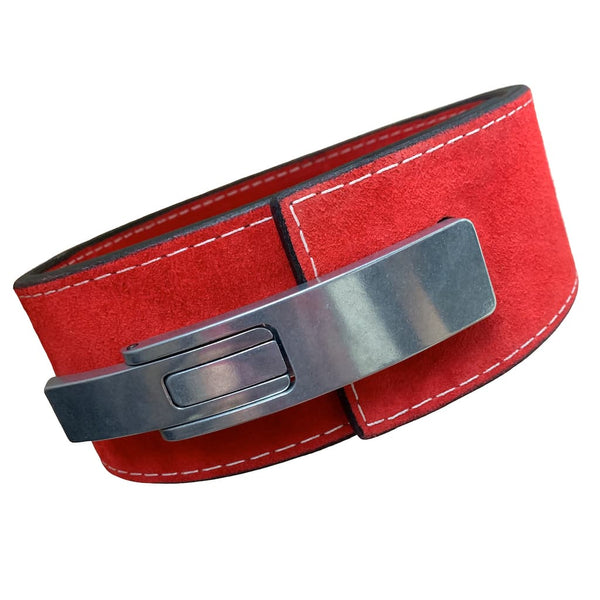 "Pioneer Fitness Powerlifting Lever Belt – 13mm thick – 4"" wide (Single Colour Suede) - 9 for 9"