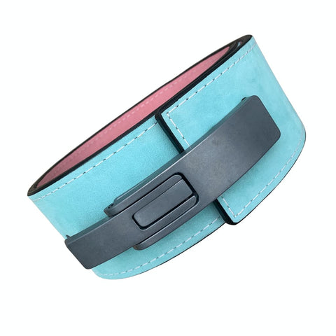"Pioneer Fitness Powerlifting Lever Belt – 13mm thick – 4"" wide (Two Tone Suede) - 9 for 9"