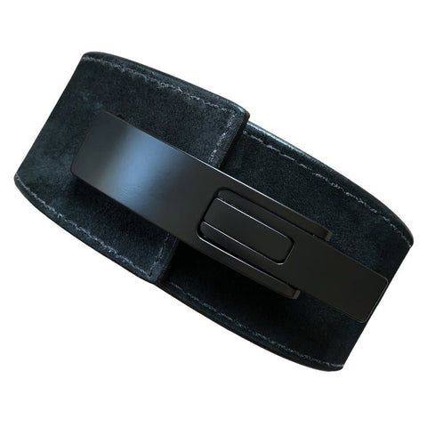 "Pioneer Fitness – 10mm/13mm thick – 3""/4"" wide – Powerlifting Lever Belt (All Black Suede ""Murdered Out"")"