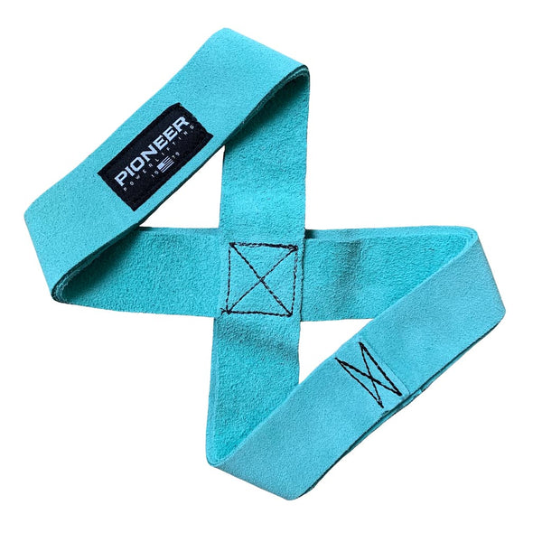 Pioneer Fitness Suede Leather Figure 8 Lifting Straps - 9 for 9