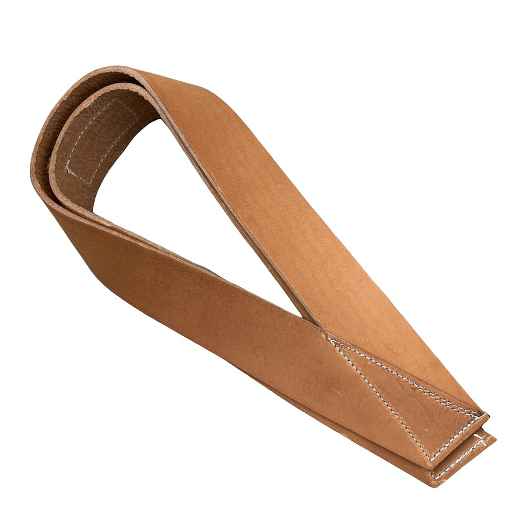 Pioneer Fitness Treated Leather Single Closed Loop / Olympic Lifting Straps - 9 for 9