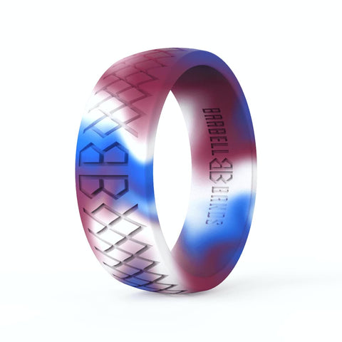 "Barbell Bands Men's ""American Camo"" Silicone Ring - 9 for 9"