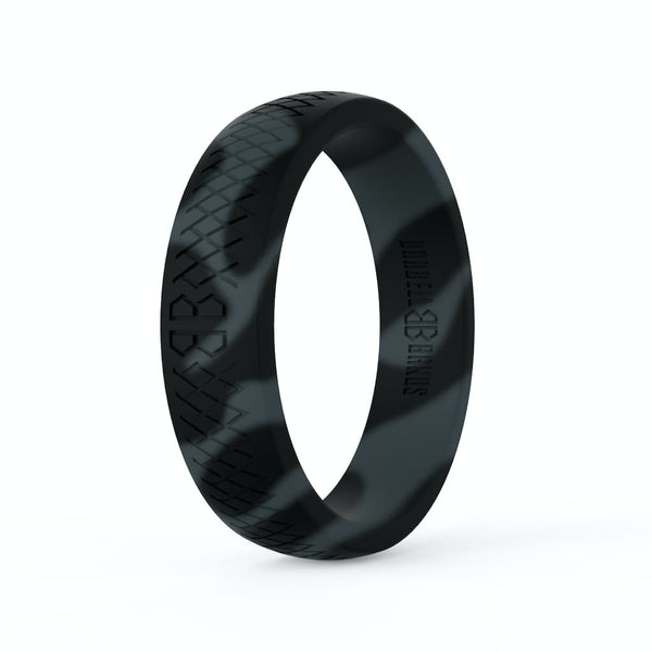 "Barbell Bands Women's ""Black Camo"" Silicone Ring - 9 for 9"