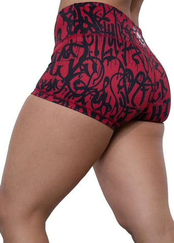 Feed Me Fight Me Women's Crimson Chaos Shorts - 9 for 9