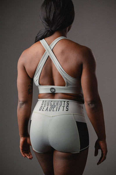 Doughnuts & Deadlifts EMPOWER Action Sports Bra (Jade) - 9 for 9