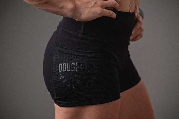 Doughnuts & Deadlifts EMPOWER Pocket Shorts (Black) - 9 for 9