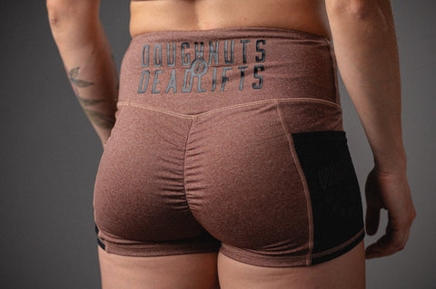 Doughnuts & Deadlifts EMPOWER Pocket Shorts (Dusty Rose) - 9 for 9