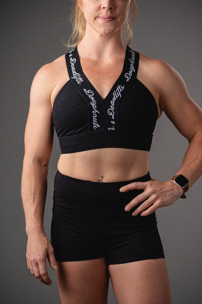 Doughnuts & Deadlifts EMPOWER Truth Sports Bra (Black) - 9 for 9
