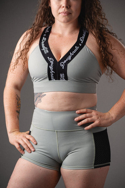 Doughnuts & Deadlifts EMPOWER Truth Sports Bra (Jade) - 9 for 9