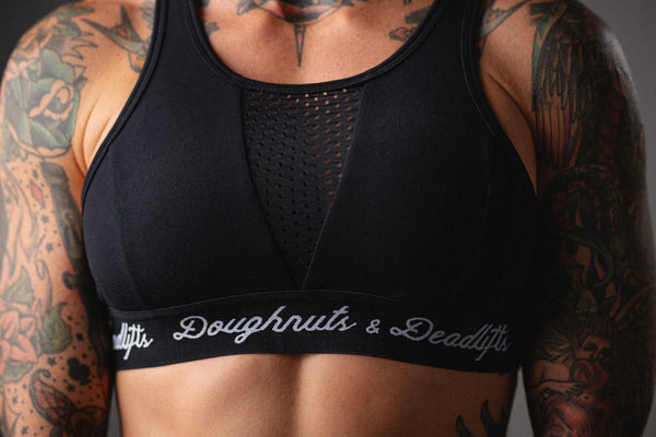 Doughnuts & Deadlifts EMPOWER Boundless Sports Bra (Black) - 9 for 9