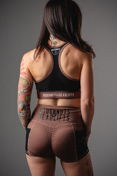 Doughnuts & Deadlifts EMPOWER Focus Sports Bra (Dusty Rose) - 9 for 9