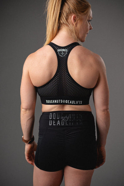 Doughnuts & Deadlifts EMPOWER Focus Sports Bra (Black) - 9 for 9