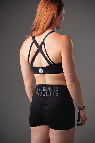 Doughnuts & Deadlifts EMPOWER Ooh La La Sports Bra (Black) - 9 for 9