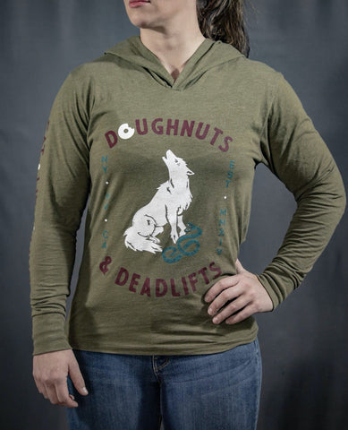 Doughnuts & Deadlifts Howling at the Moondough Hoodie - 9 for 9