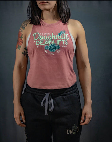 Doughnuts & Deadlifts Succulent Crop Tank - 9 for 9