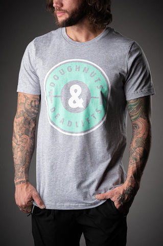 Doughnuts & Deadlifts SUMMER OG Tee (Heather Grey) - 9 for 9