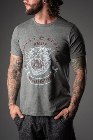 Doughnuts & Deadlifts TIGER DOUGH Tee (Grey) - 9 for 9