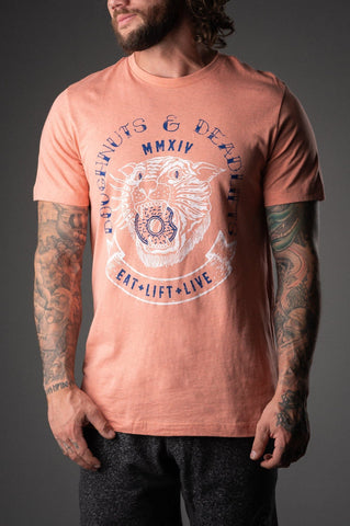 Doughnuts & Deadlifts TIGER DOUGH Tee (Sunset) - 9 for 9