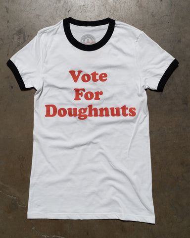 Doughnuts & Deadlifts VOTE FOR DOUGHNUTS Tee - 9 for 9