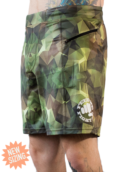 Feed Me Fight Me Men's Geo Camo Shorts 2.0 - 9 for 9