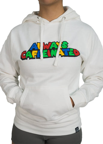 Feed Me Fight Me 'Level Up' Hoodie (White) - 9 for 9