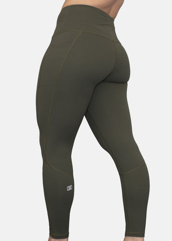 Feed Me Fight Me SAS High-Waisted Leggings (Olive) - PRE-ORDER