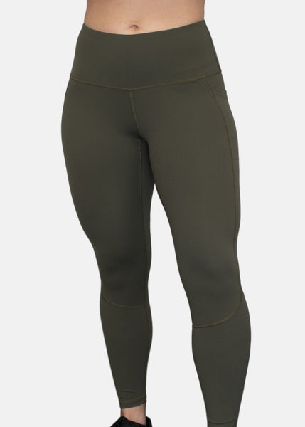 Feed Me Fight Me SAS High-Waisted Leggings (Olive) - 9 for 9